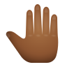 Raised Back Of Hand Medium Dark Skin Tone icon