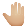 Raised Back Of Hand Medium Light Skin Tone icon