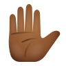 Raised Hand Medium Dark Skin Tone icon