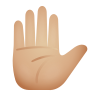 Raised Hand Medium Light Skin Tone icon