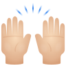 Raising Hands Light Skin Tone icon
