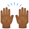 Raising Hands Medium Dark Skin Tone icon