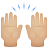 Raising Hands Medium Light Skin Tone icon