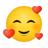 Smiling Face With Hearts icon