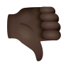Thumbs Down Dark Skin Tone icon