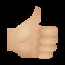 Thumbs Up Medium Light Skin Tone icon