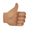 Thumbs Up Medium Skin Tone icon