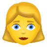 Woman Blond Hair icon