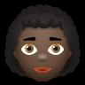 Woman Curly Hair Dark Skin Tone icon