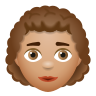 Woman Curly Hair Medium Skin Tone icon