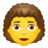 Woman Curly Hair icon
