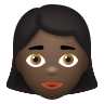 Woman Dark Skin Tone icon