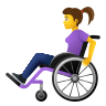 Woman In Manual Wheelchair icon
