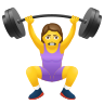 Woman Lifting Weights icon
