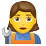 Woman Mechanic icon