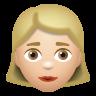 Woman Medium Light Skin Tone icon
