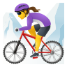 Woman Mountain Biking icon