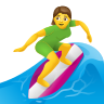 Woman Surfing icon