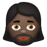 Woman With Beard Dark Skin Tone icon