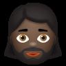 Woman With Beard Dark Skin Tone icon