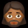 Woman With Beard Medium Dark Skin Tone icon