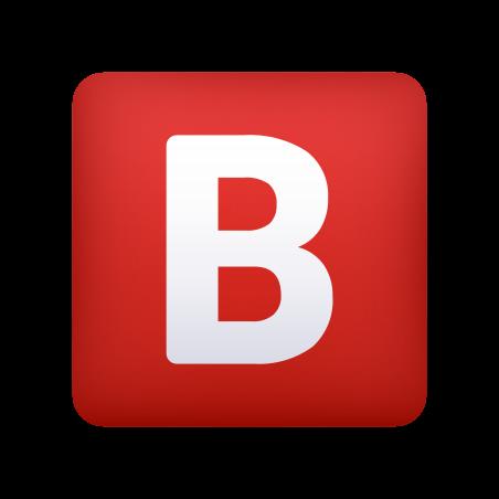 B Button (Blood Type) icon
