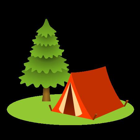Camping icon in Emoji