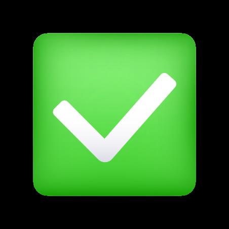 Check Mark Button icon in Emoji