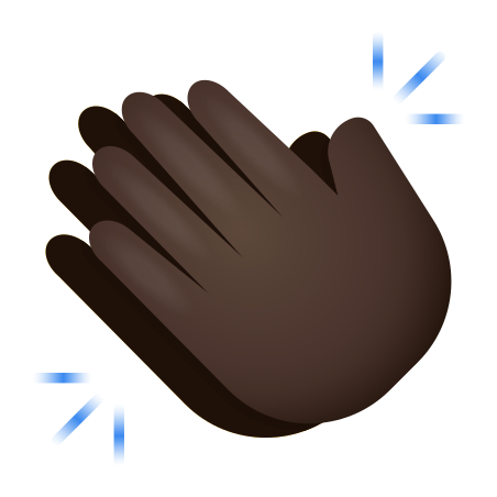 Clapping Hands Dark Skin Tone icon
