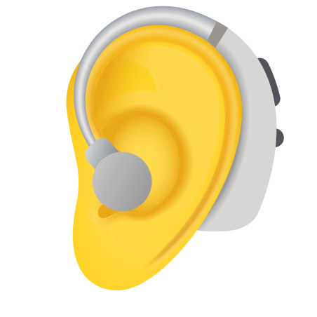 Ear With Hearing Aid icon in Emoji