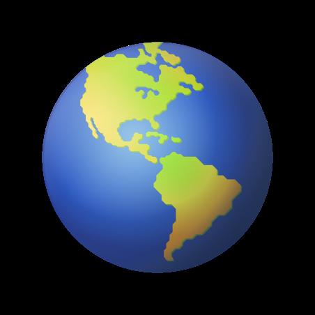 Globe Showing Americas icon