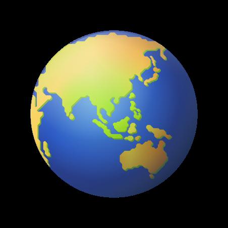 Globe Showing Asia Australia icon