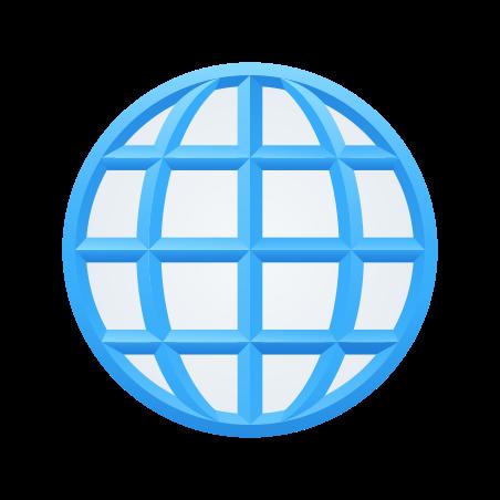 Globe With Meridians icon