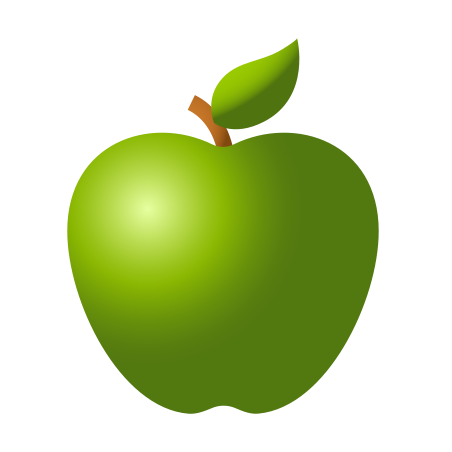 Green Apple icon in 이모티콘