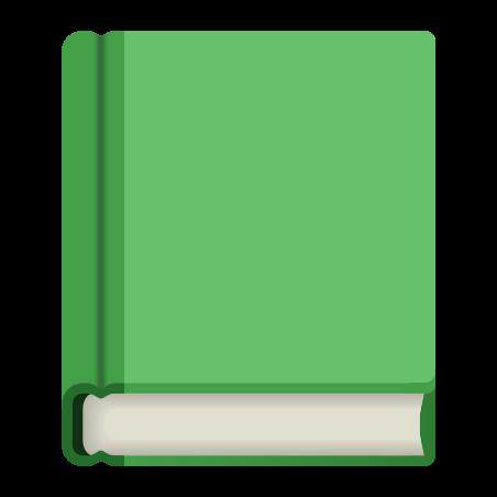 Green Book icon in Emoji