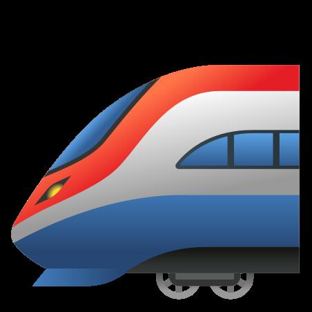 High Speed Train icon in Emoji