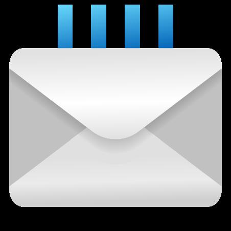 Incoming Envelope icon in Emoji