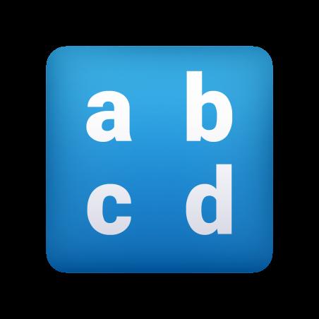 Input Latin Lowercase icon