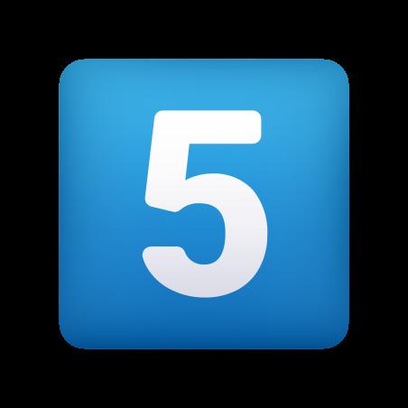 Keycap Digit Five icon