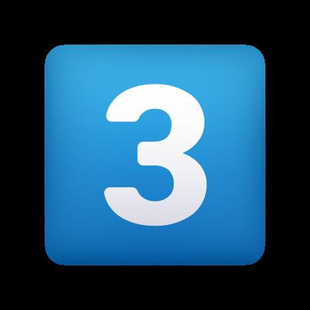 Keycap Digit Three icon