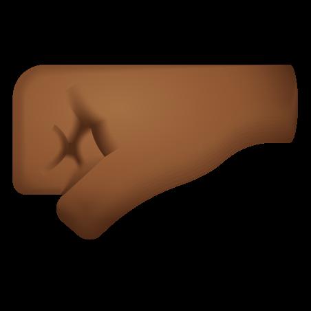 Left Facing Fist Medium Dark Skin Tone icon