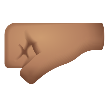 Left Facing Fist Medium Skin Tone icon