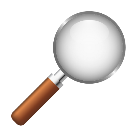 Magnifying Glass Tilted Right icon in Emoji