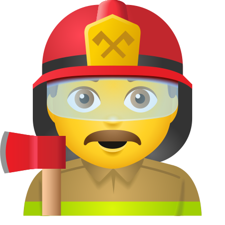 Man Firefighter icon