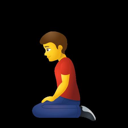 Man Kneeling icon