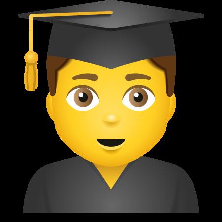Man Student icon in Emoji