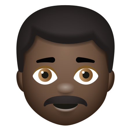 Man With Mustache Dark Skin Tone icon