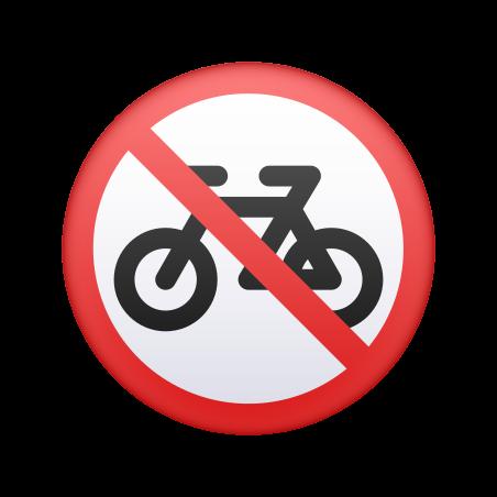 No Bicycles icon