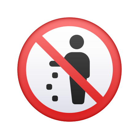 No Littering icon