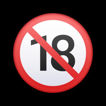 No One Under Eighteen Emoji icon
